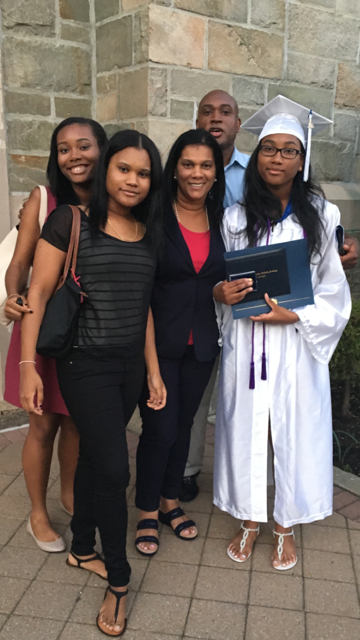 Miren Blackwood with her husband and three daughters.