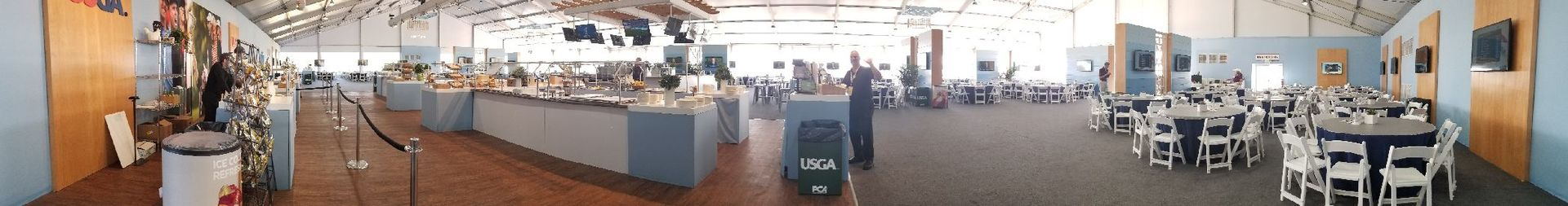 The tent Marino worked in at the 2018 U.S. Open.